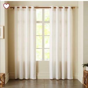 West Elm Linen and Cotten Groomet top curtains